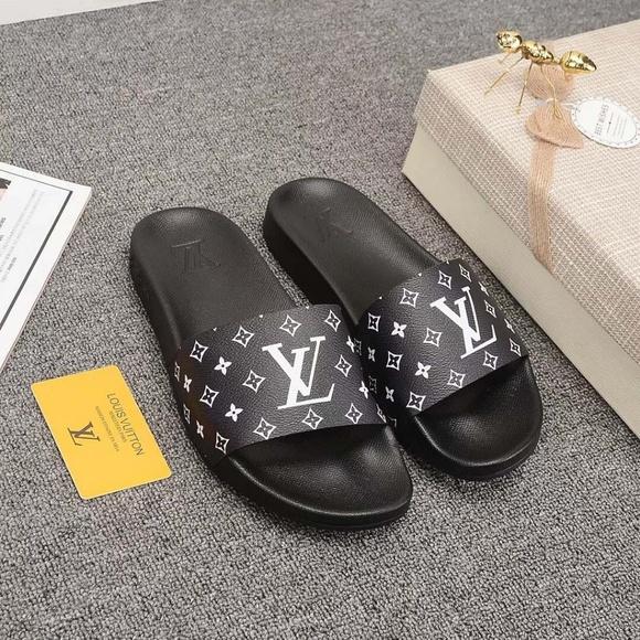 Louis Vuitton Women Men Lovers Slippers
